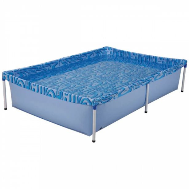 Oferta de Piscina infantil Mor estruturada azul 1000l por R$99,9