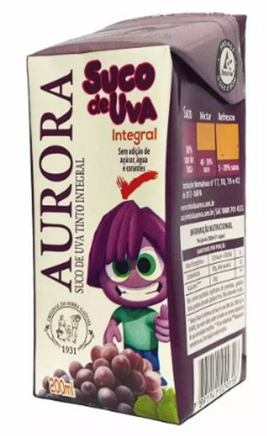 Oferta de Suco Aurora uva 200ml por R$3,99