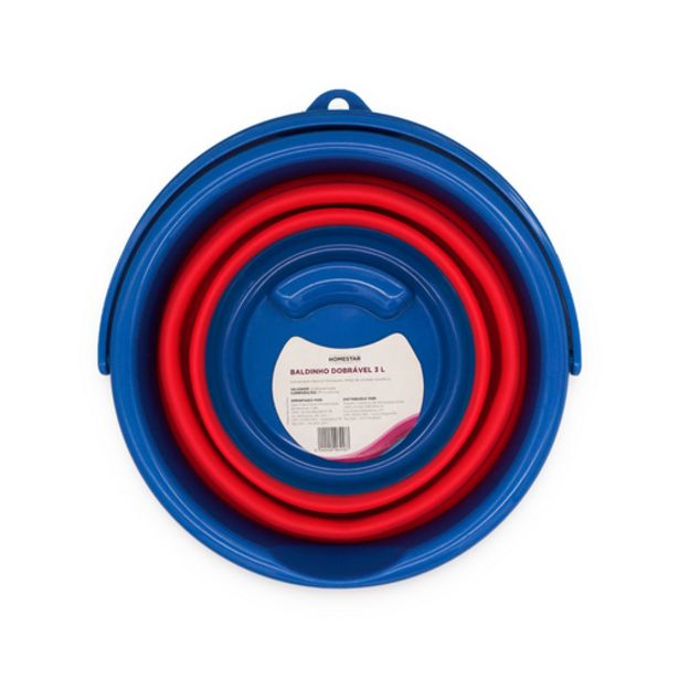 Oferta de Balde Homestar dobrável azul/vermelho 3L por R$9,9