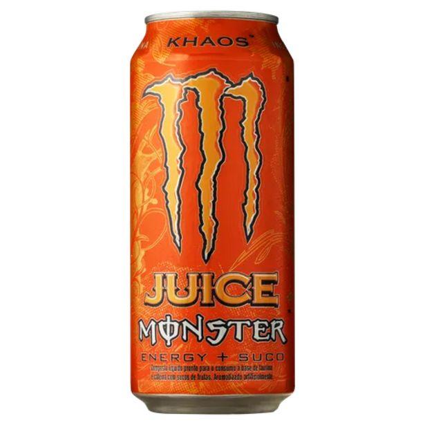 Oferta de Energético Monster khaos 473ml por R$7,99