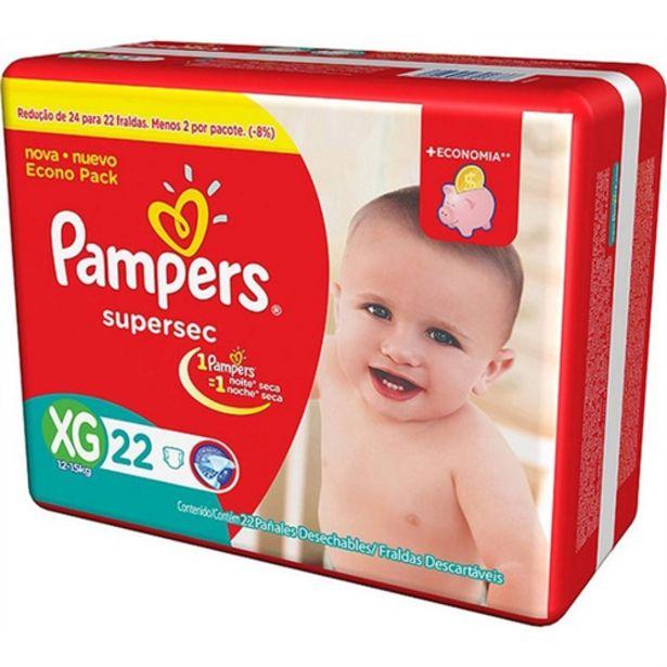 Oferta de Fralda Pampers supersec XG por R$37,98