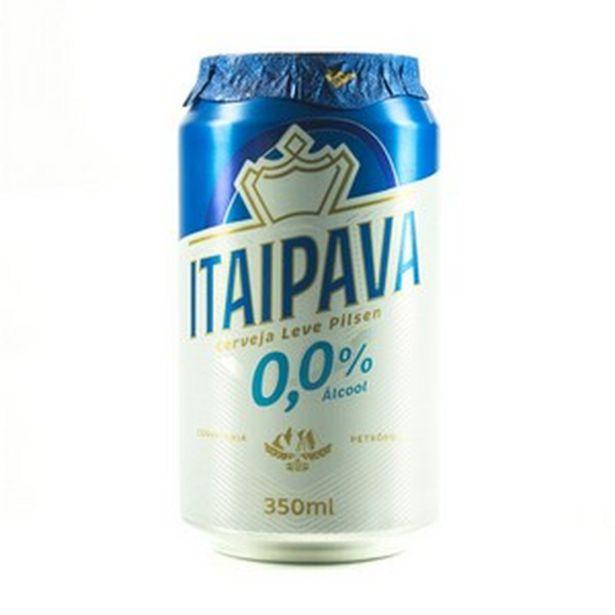 Oferta de Cerveja Itaipava 0,0% álcool 350ml por R$1,99