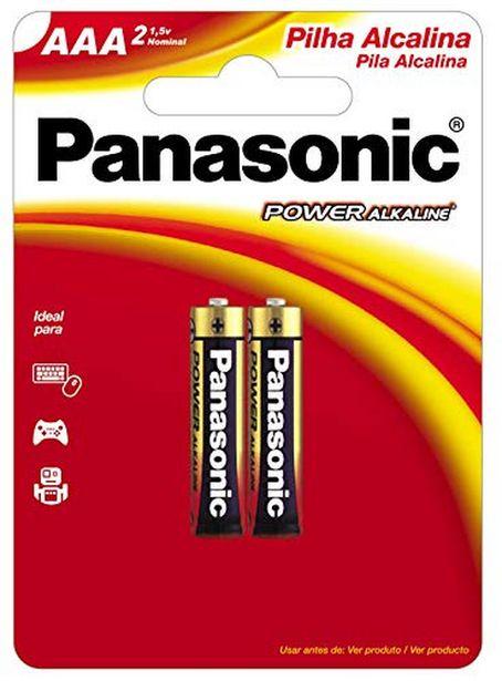 Oferta de Pilha Panasonic AAA palito alcalina por R$11