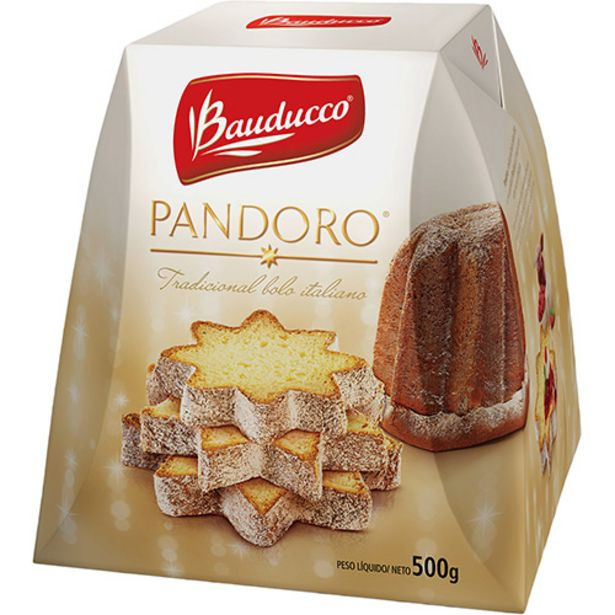 Oferta de Panettone Bauduc Pandoro S/fru 500g  por R$7,98