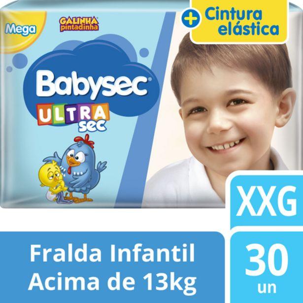 Oferta de Fralda Babysec Mega XXG por R$36,98