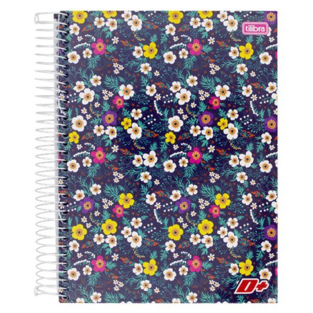 Oferta de Caderno universitário Tilibra mais feminino com 200 folhas por R$15,9