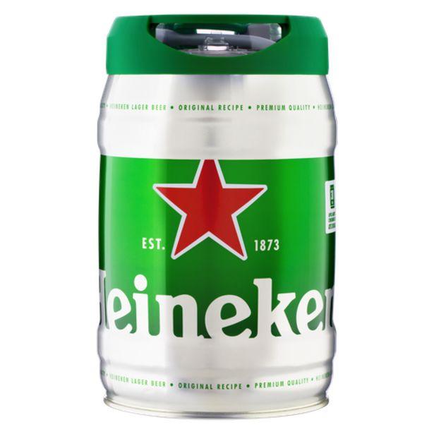 Oferta de Cerveja Heineken barril 5L por R$84,9