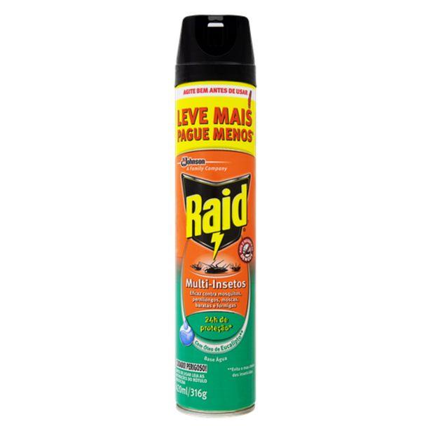 Oferta de Inseticida aerosol Raid eucalipto 420ml por R$9,98