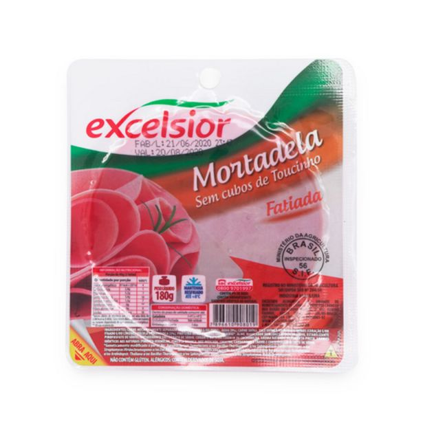 Oferta de Mortadela Excelsior sem toucinho 180g por R$4,89