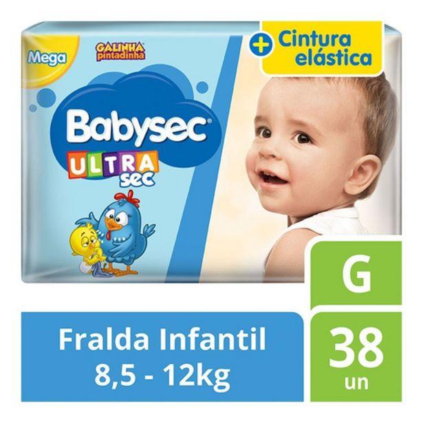 Oferta de Fralda Babysec mega G por R$36,98