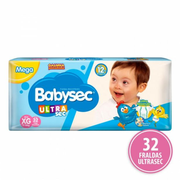 Oferta de Fralda Babysec Mega XG por R$39,98