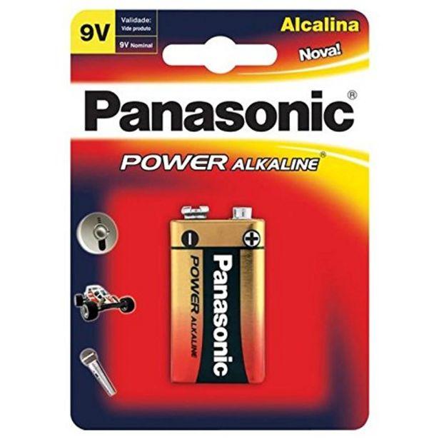 Oferta de Bateria Panasonic alcalina 9V por R$25,49