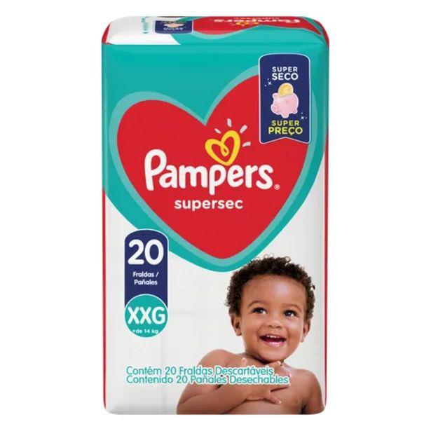 Oferta de Fralda Pampers supersec XXG por R$37,98