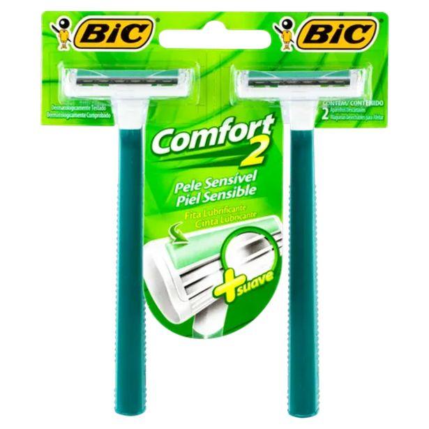 Oferta de Aparelho de barbear Bic comfort 2 sensível por R$3,98