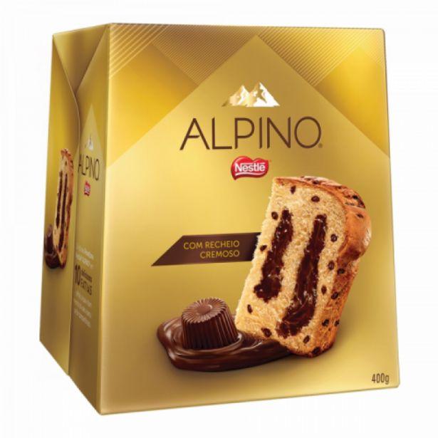 Oferta de Panetone Nestlé Alpino gotas e recheio chocolate 400g por R$32,9