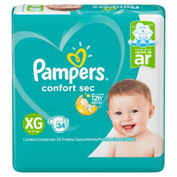 Oferta de Fralda Pampers confortsec mega XG por R$74,98
