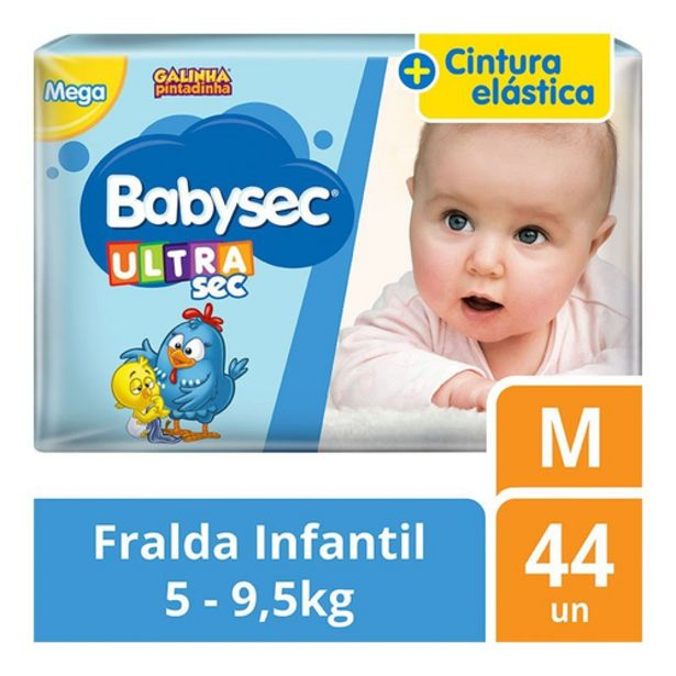 Oferta de Fralda Babysec mega M por R$39,98