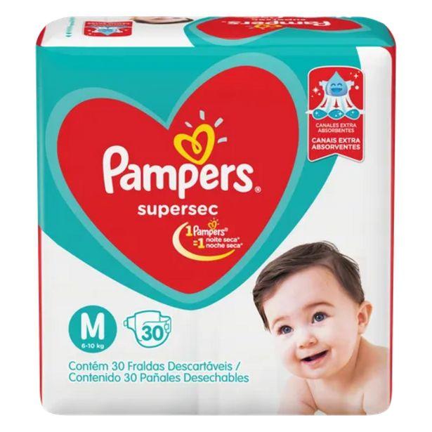 Oferta de Fralda Pampers supersec M por R$37,98