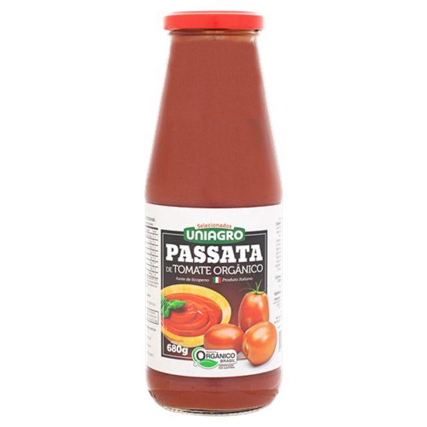 Oferta de Molho de tomate Uniagro passata orgânico 680g por R$17,5