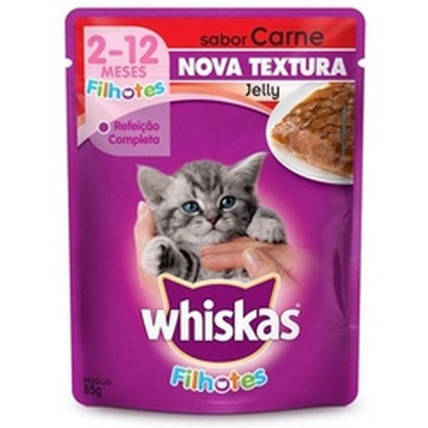 Oferta de Ração para gato Whiskas filhote carne 85g por R$2,98