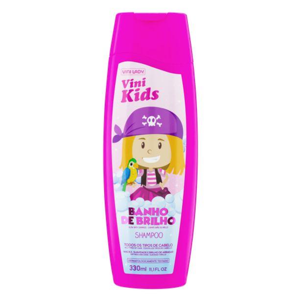 Oferta de Shampoo Infantil Vini Kids Banho de Brilho 330ml por R$9,98
