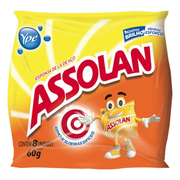 Oferta de Esponja de aço Assolan original por R$2,49