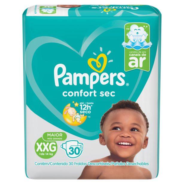 Oferta de Fralda Pampers confortsec mega XXG por R$74,98