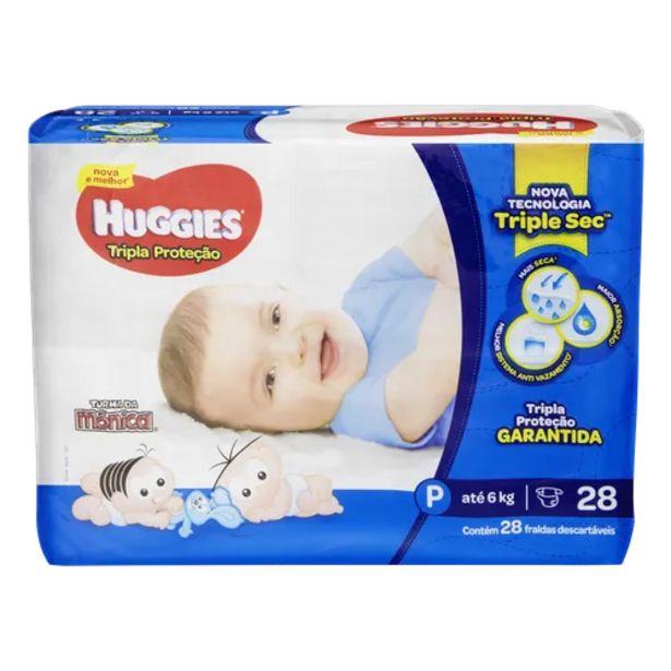 Oferta de Fralda Huggies turma da mônica tripla proteção jumbinho P por R$22,98