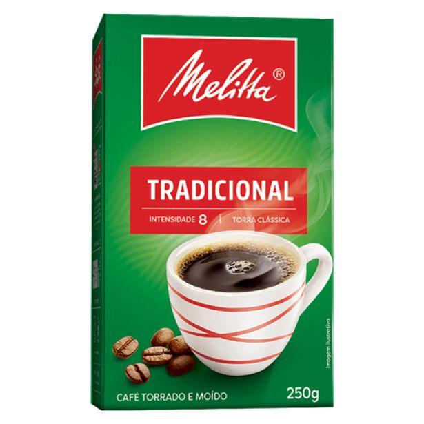 Oferta de Café em pó Melitta tradicional a vácuo 250g por R$7,99