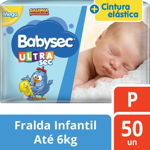 Oferta de Fralda Babysec mega P por R$36,98