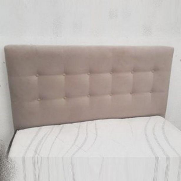 Oferta de CABECEIRA ESTOFADA PARA BOX DE CASAL - DUBAI 1,40 M ./BEGE por R$570