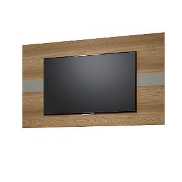 Oferta de PAINEL FRANÇA P/ TV ATÉ 55'' - 160X90CM ./AMENDOA/TITANIO por R$269