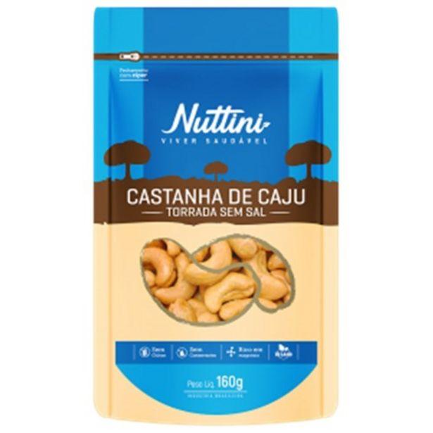 Oferta de Castanha de Caju Nuttini Torrada sem Sal 160G por R$19,89