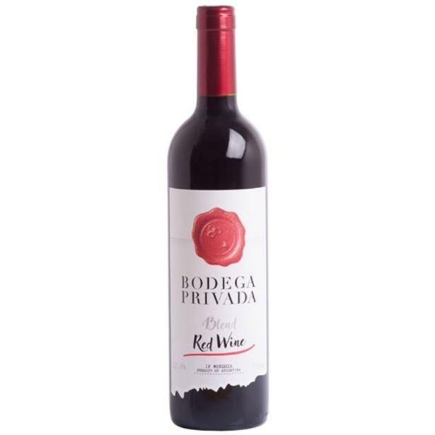 Oferta de Vinho Tinto Argentino Bodega Privada Blend Garrafa 750Ml por R$13,89