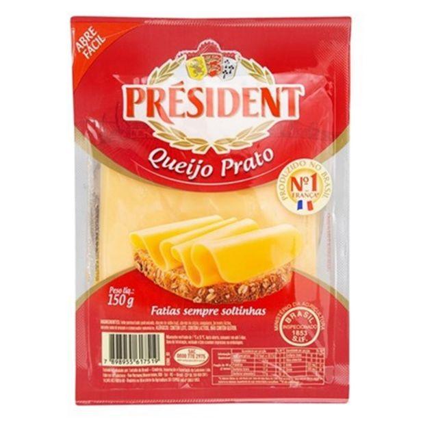 Oferta de Queijo Prato President Fatiado 150G por R$6,49