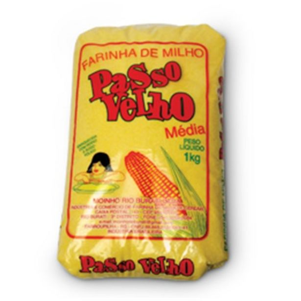 Oferta de Farinha de Milho Passo Velho Embalagem 1Kg por R$4,69