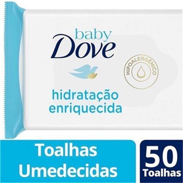 Oferta de Lenço Umedecido Baby Dove Hidratação Enriquecida 50Un por R$9,9