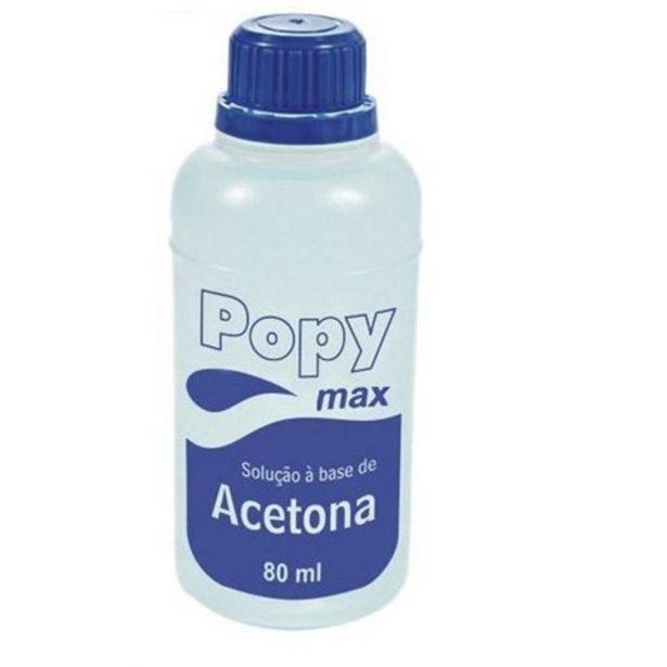 Oferta de Acetona Popy Max Embalagem 80Ml por R$2,99