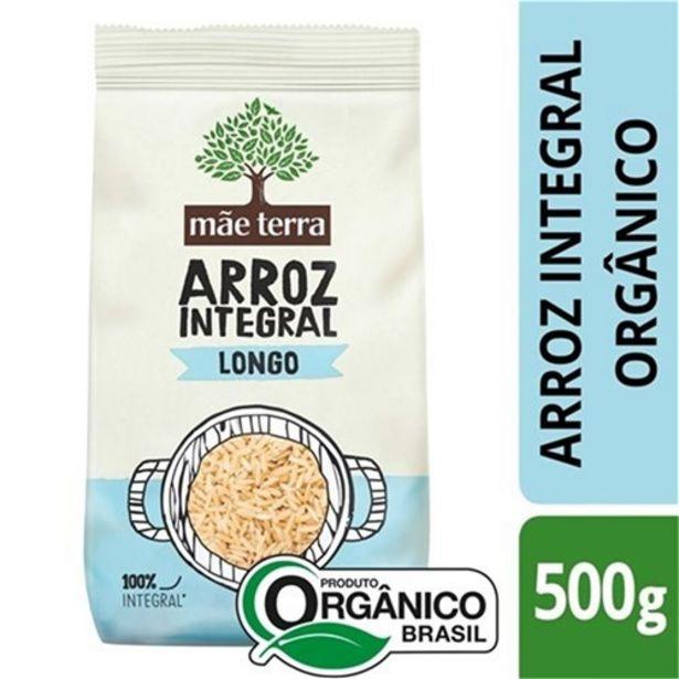 Oferta de Arroz Integral Mãe Terra Longo Orgânico 500G por R$5,57
