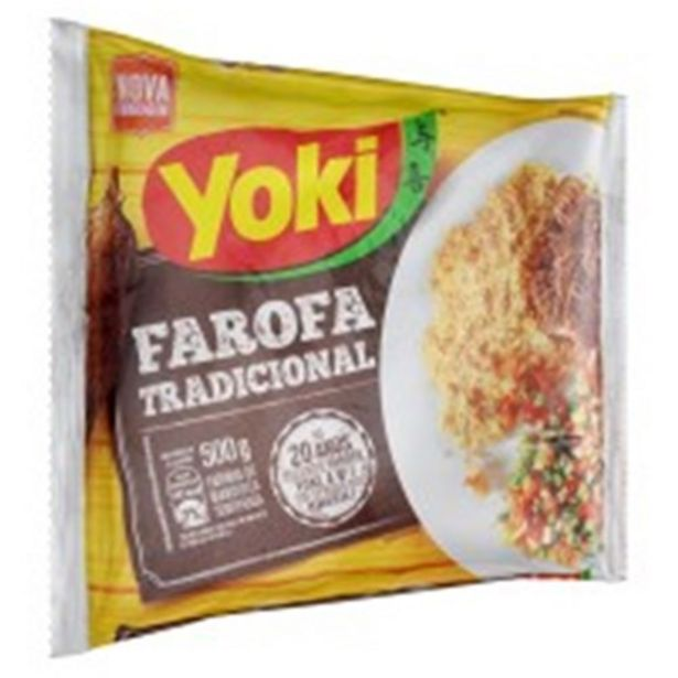 Oferta de Farofa Pronta Yoki Temperada 500G por R$4,97