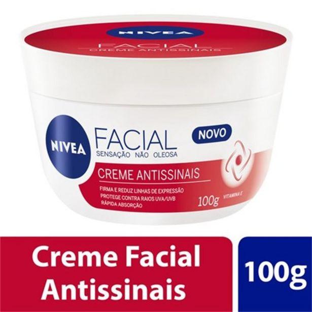 Oferta de Creme Facial Nivea Antissinais Embalagem 100G por R$19,9
