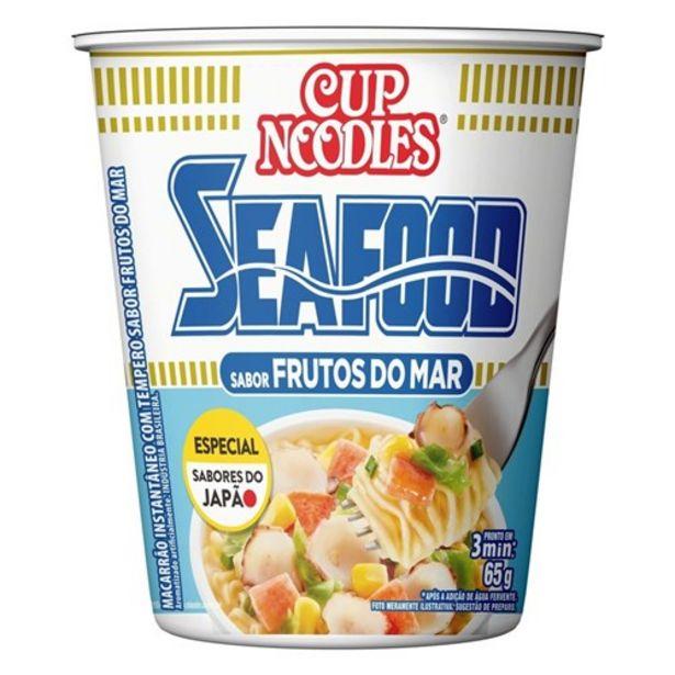 Oferta de Macarrão Instantâneo Cup Noodles Frutos do Mar 69G por R$3,59