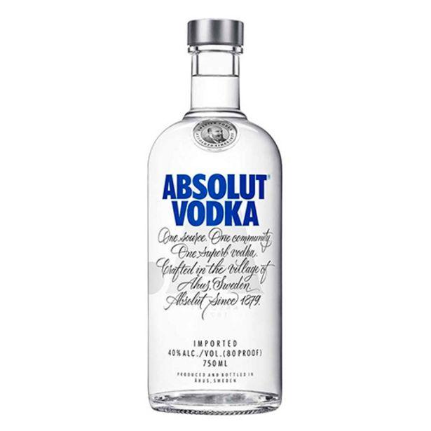 Oferta de Vodka Absolut 750ml Trad. por R$59,9