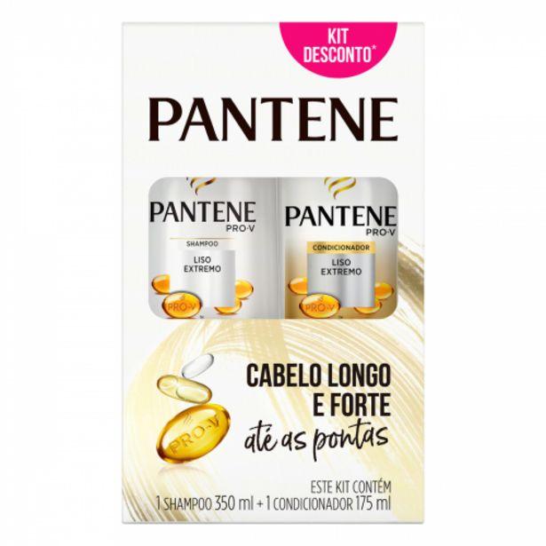 Oferta de Shampoo Pantene 350ml +cond.175ml Liso Extremo por R$19,89