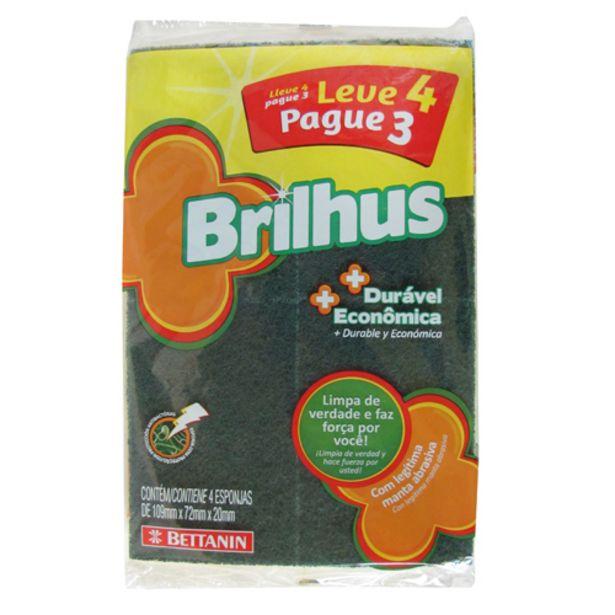 Oferta de Esponja Brilhus Leve 4 E Pague 3 Unid. por R$2,99