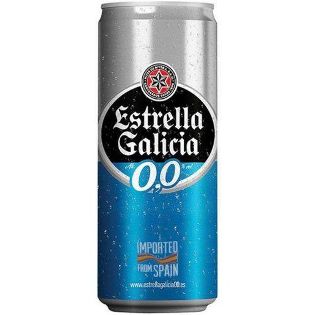 Oferta de Cerveja Estrella Galicia 330ml Zero por R$3,79