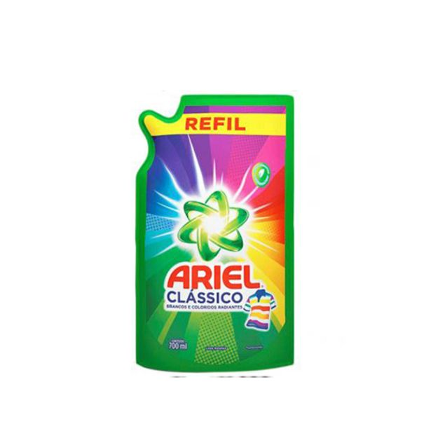 Oferta de Lava Roupa Ariel 700ml Classico Sachet por R$6,99