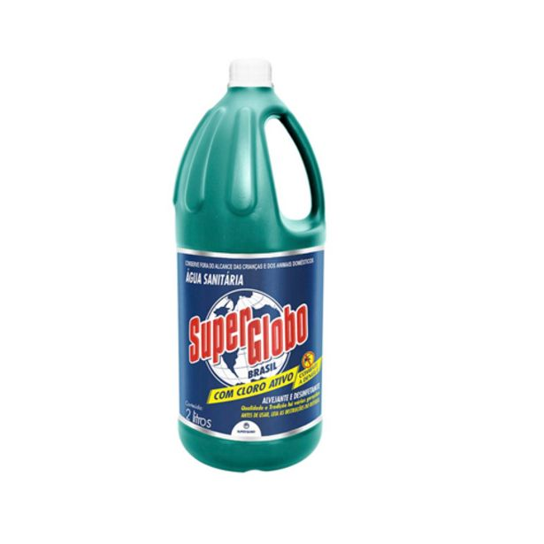 Oferta de Agua Sanitaria Super Globo L2l/p1,8 por R$4,79
