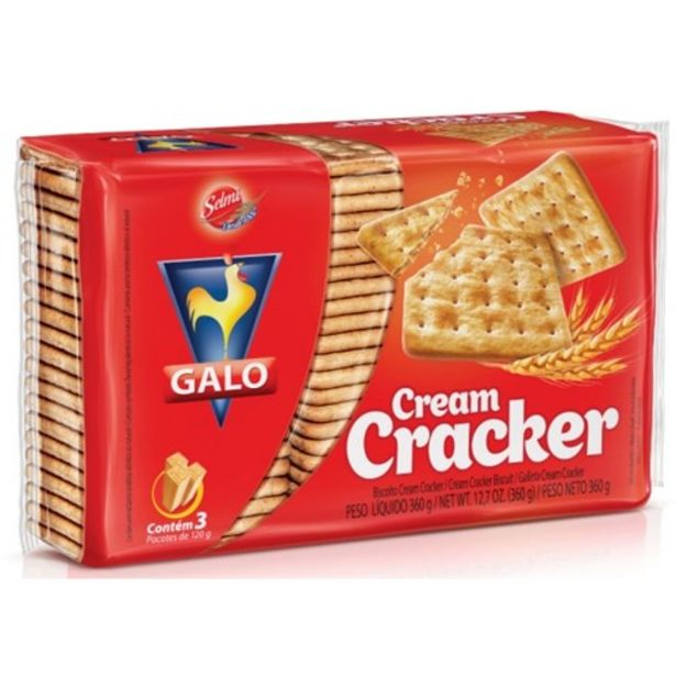 Oferta de Bisc.galo 360g Cream Cracker por R$3,69