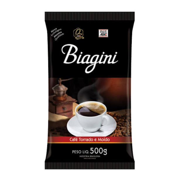 Oferta de Cafe Biagini 500g por R$6,99